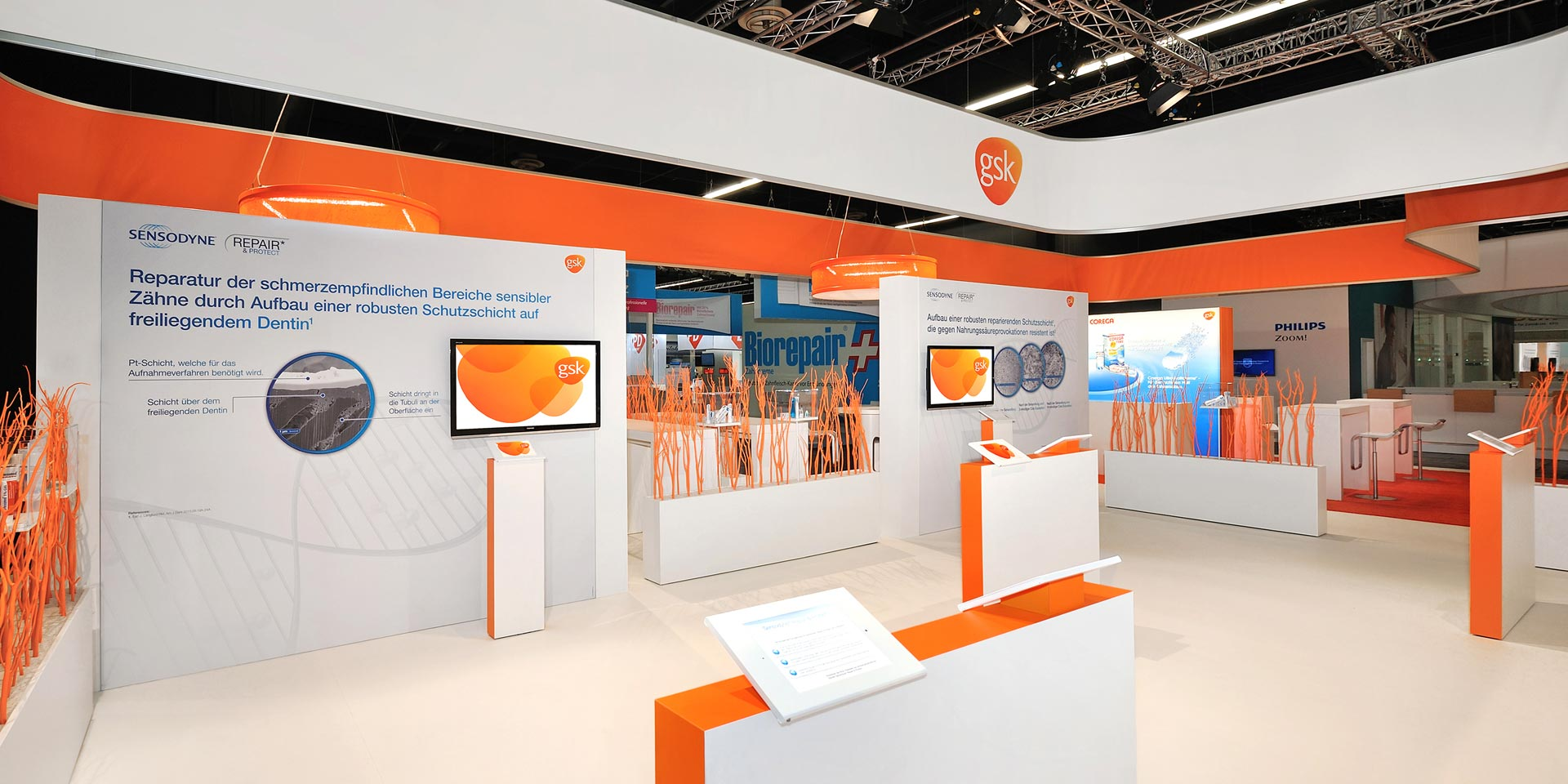 Messestand gsk